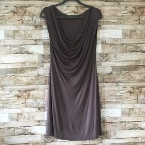 Velvet Purple Cowl Neck Sleeveless Dress sz. M